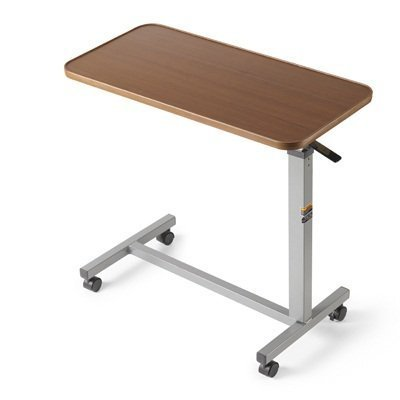 The Eva Medical Adjustable Overbed Table With Wheels