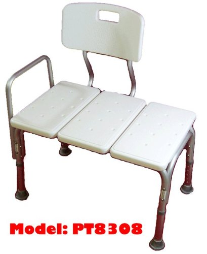 patients with mobility challenges will find this transfer bench helpful for from a wheelchair to a bath seat