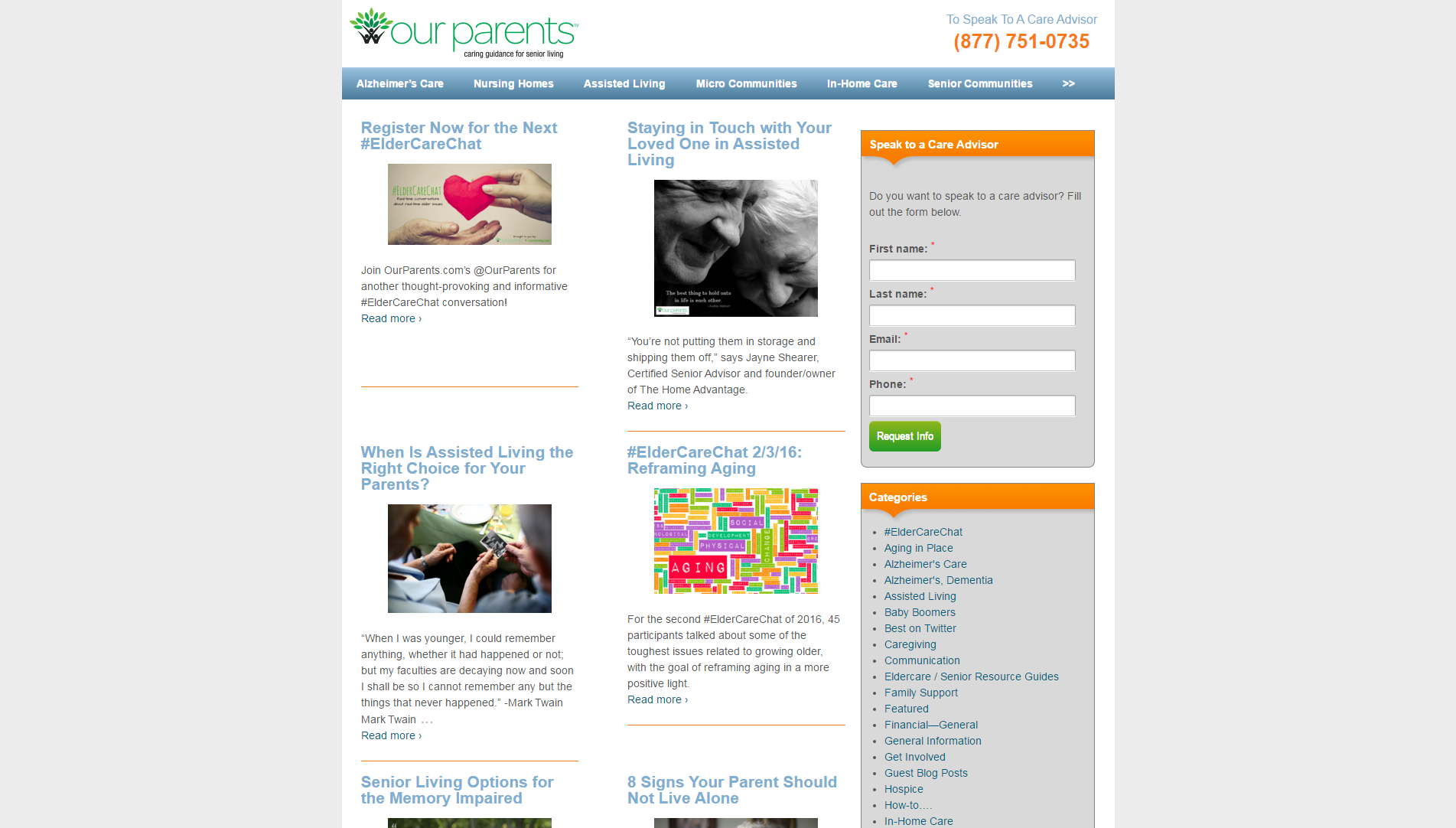 The Top Senior Living Websites and Blogs | Product Reviews