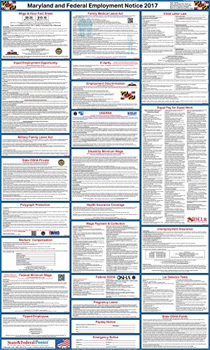The best 2017 labor law posters reviewed product reviews and ratings maryland 2017 state federal labor law poster sciox Choice Image