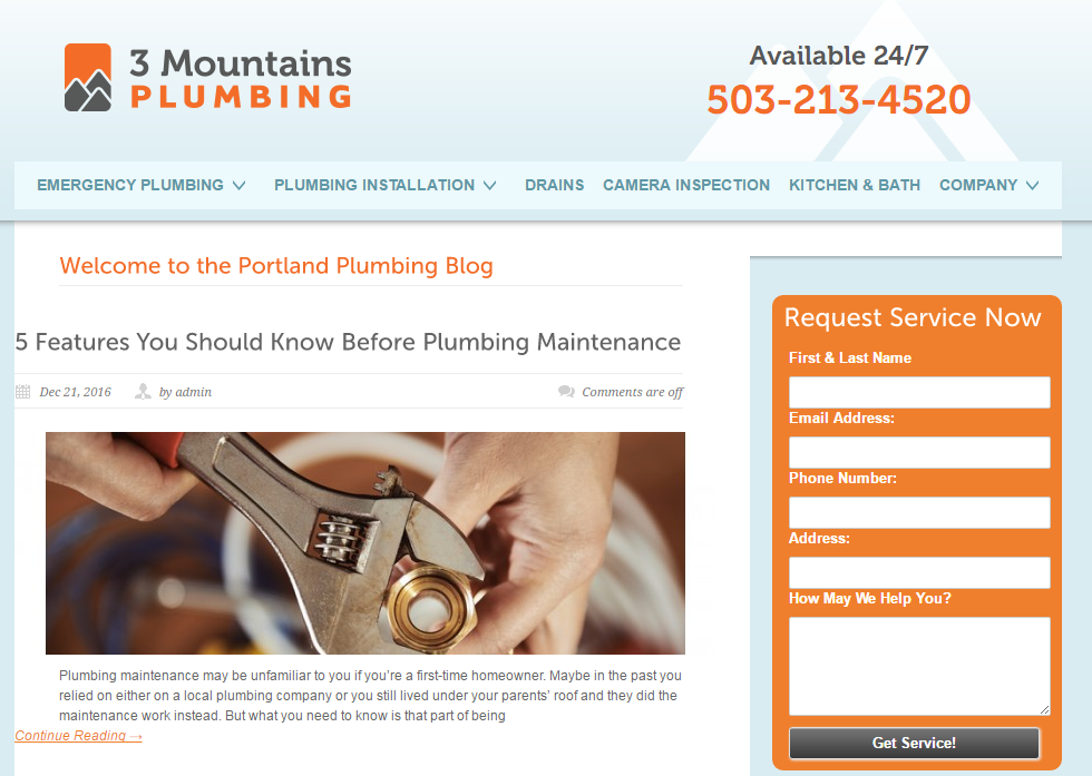 The 3 Mountains Plumbing Blog
