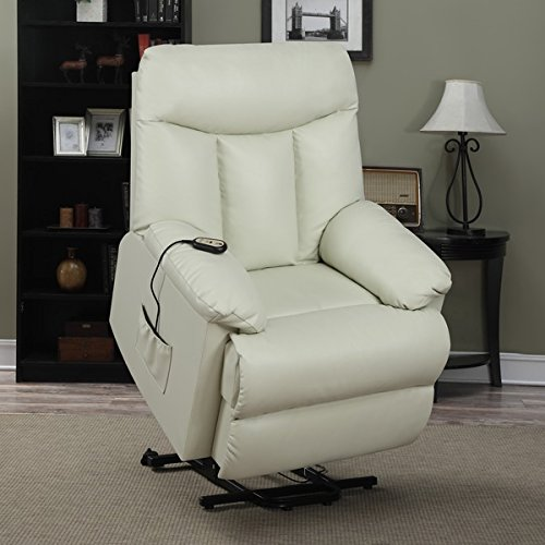 The ProLounge Cream-Colored Leather Power Recliner Review & The 5 Best Reclining Power Lift Chairs | Product Reviews and Ratings islam-shia.org