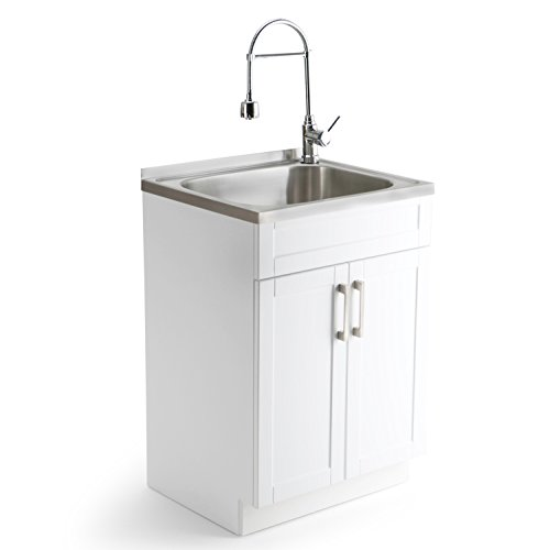 Incroyable The Simpli Home Laundry Cabinet Steel Sink Review