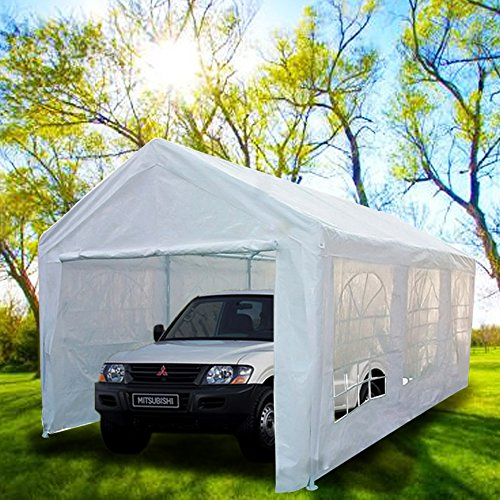 The Peaktop Portable Garage Car Shelter Review & The 5 Best Portable Garages [Ranked] | Product Reviews and Ratings