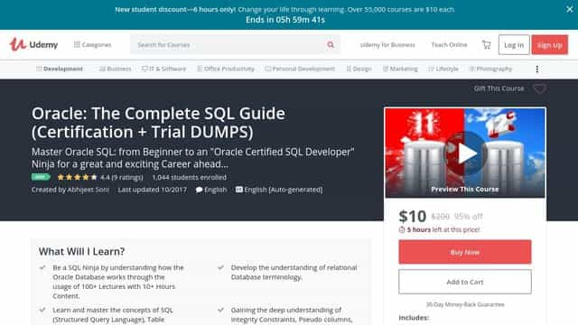 Oracle The Complete SQL Guide (Certification + Trial DUMPS)
