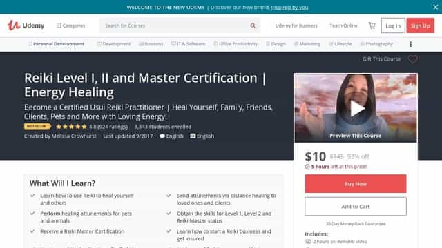 Reiki Level I, II and Master Certification Energy Healing
