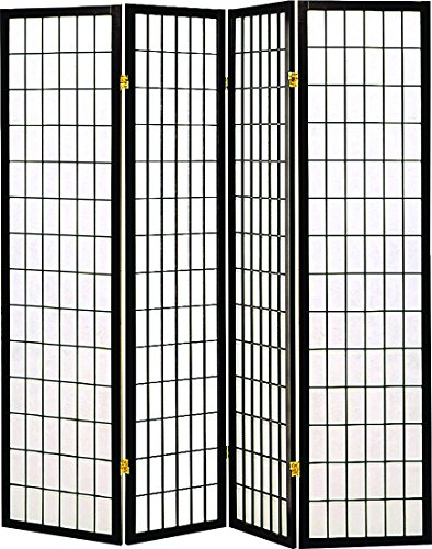 The Coaster Home Furniture Transitional Black Four Folding Screen Review