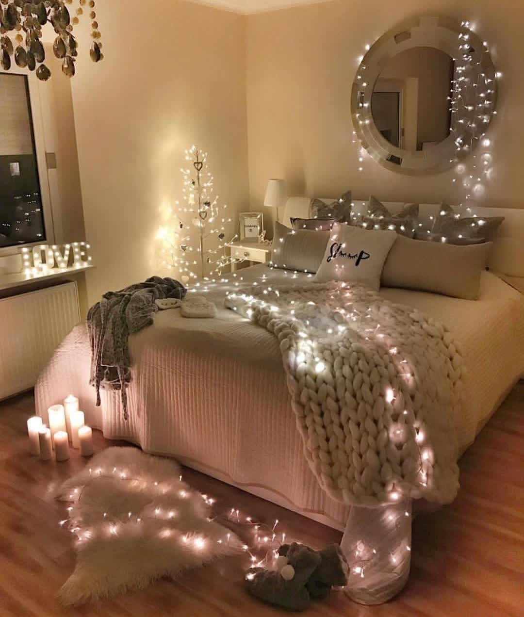 fairy light decor idea