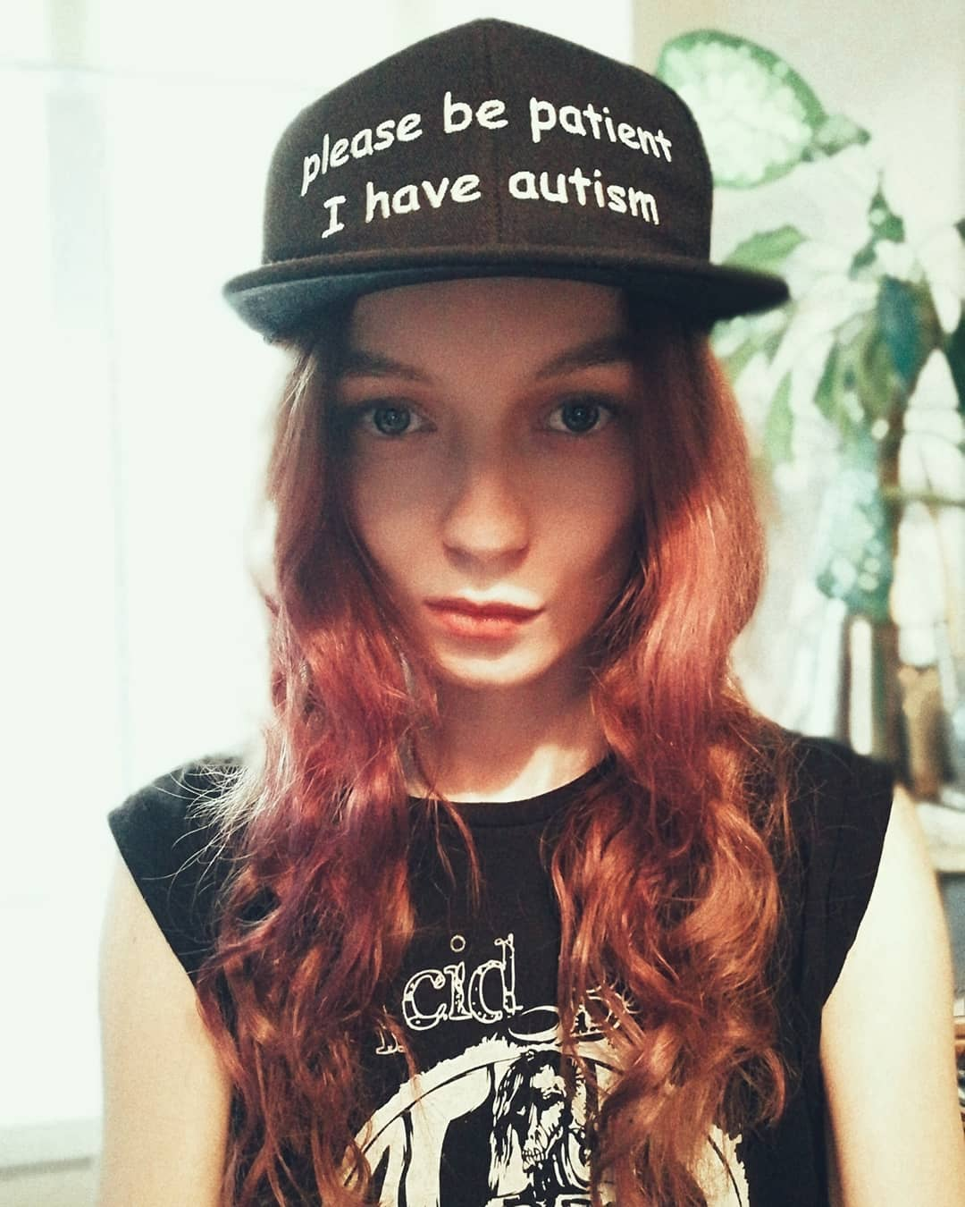 please be patient i have autism hat